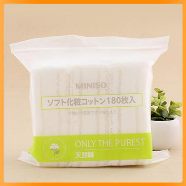 ♥ Bông tẩy trang Miniso Nhật Bản 180 miếng - NuNa Town giá rẻ
