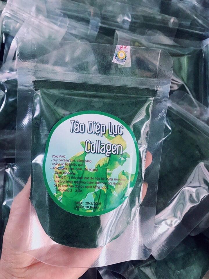 2 gói bột tảo diệp lục  collagen chính hãng