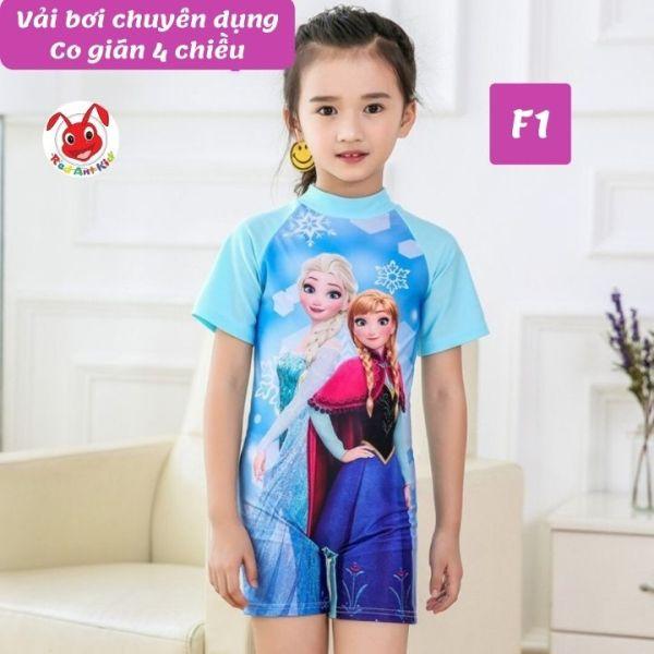 Nơi bán Đồ bơi liền thân cho be gái hình Elsa từ 10-22kg - vải chuyên dụng - thun 4 chiều- Red Ant Kids