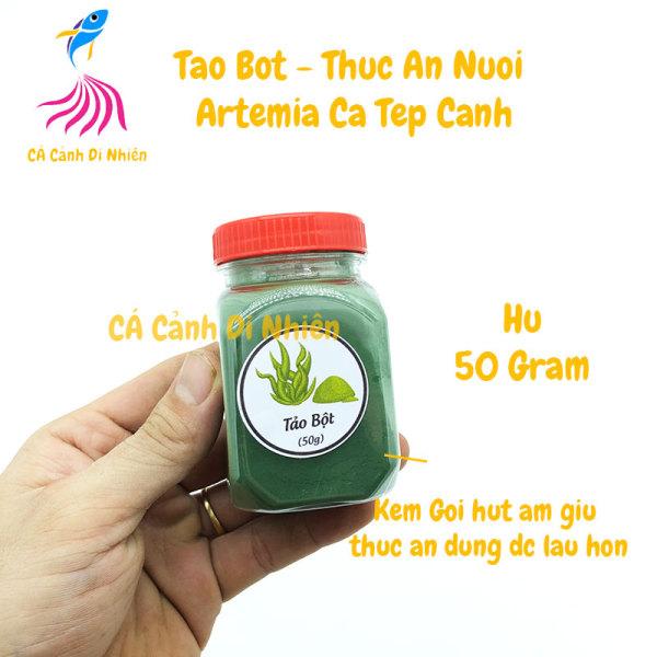 Tảo bột xoắn - Thức Ăn Nuôi Artemia Cá Tép Cảnh hũ 50 gram