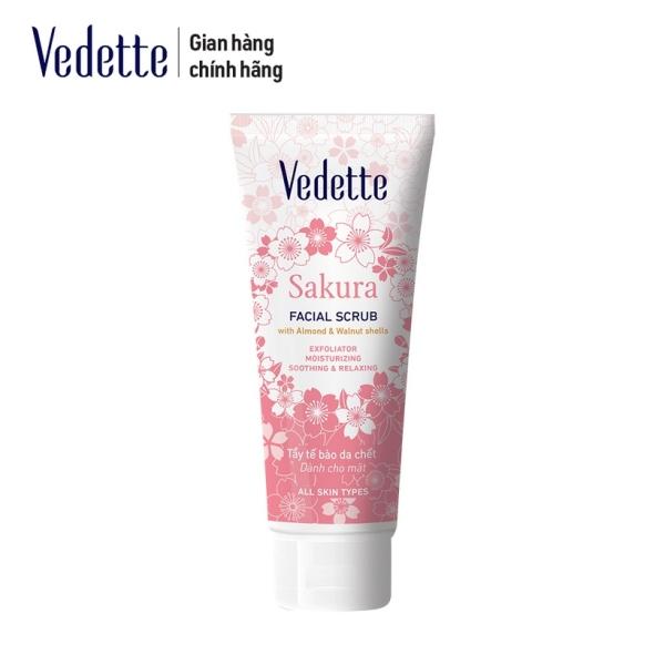 Sữa tẩy tế bào chết yến mạch và hoa anh đào Vedette 45ml