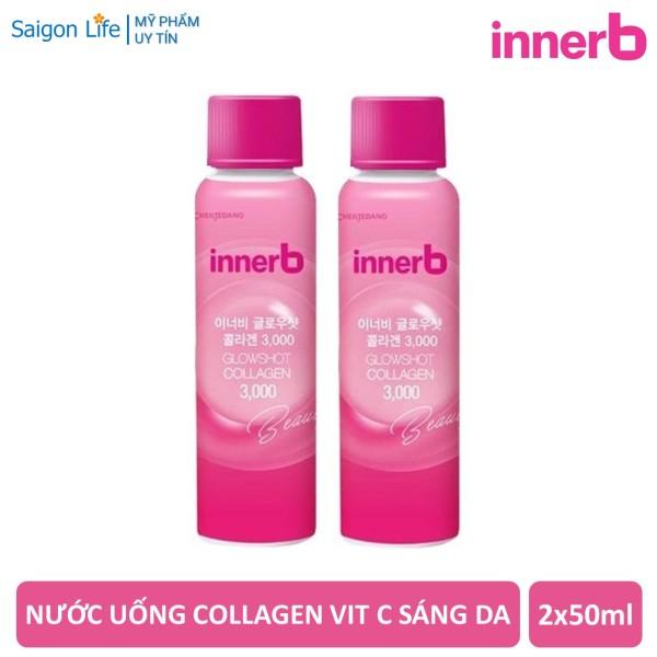 Combo 2 Chai Nước uống Collagen Vitamin C Sáng Da InnerB Glowshot Collagen 3000 (50ml x 2) giá rẻ