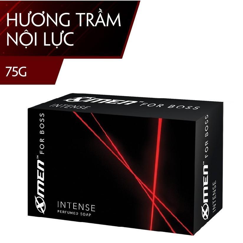 Xà bông cục  X-men For Boss Intense 75gr ( cho nam) - Hương trầm nam tính