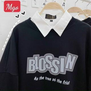 Áo khoác nỉ form rộng phong cách Hàn in chữ BLOSSIN TTSLA0516 thumbnail