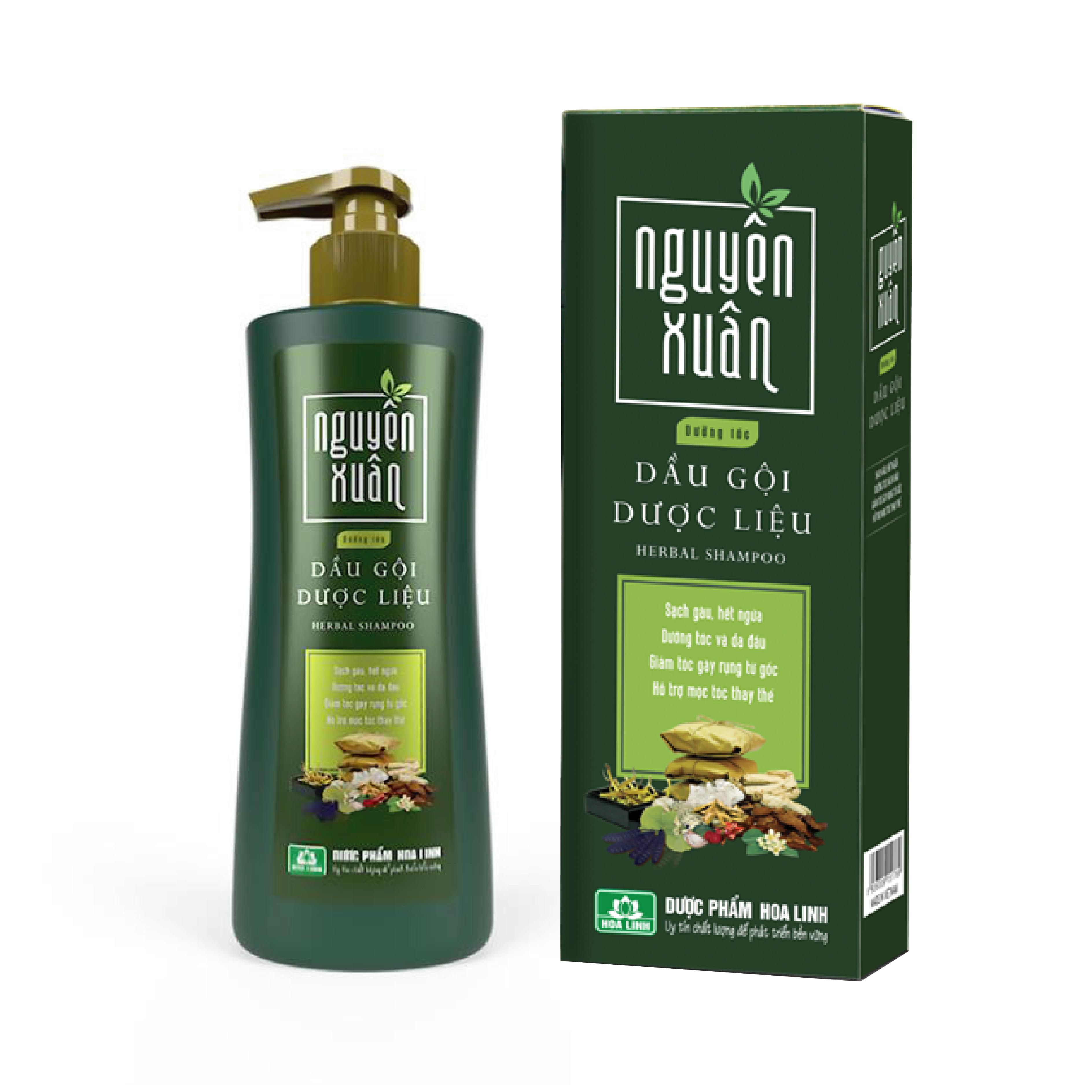 Dầu gội Dược liệu Nguyên Xuân xanh (Dưỡng tóc, phục hồi hư tổn) 250ml