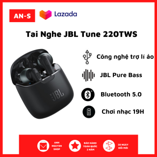 [NewSeal - Full Box] Tai nghe Bluetooth True Wireless JBL Tune 220 - Tai Nghe Nhét Tai Bluetooth Không Dây - Âm bass mạnh mẽ với công nghệ JBL Pure Bass Sound - Pin Trâu Tới 19h - Thiết Kế Bắt Mắt, Thời Trang, Cá Tính thumbnail