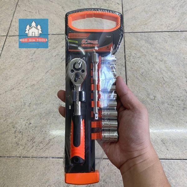 Bộ cần típ tự động Kapusi 12 chi tiết thép từ 4mm - 13mm