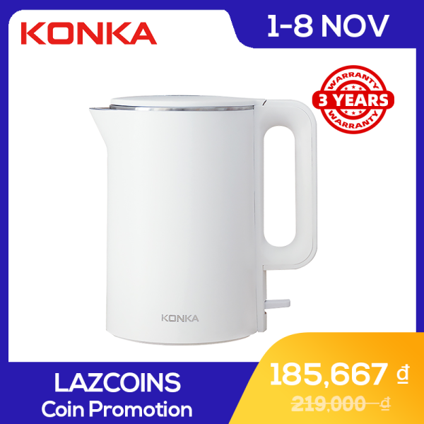 KONKA Electric Kettle Fast Boiling 1.7 L Household Stainless Steel Smart Electric Kettle White