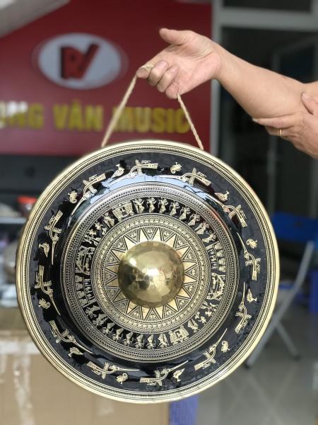 Chiêng đồng 40cm 4 tấc hình trống đồng