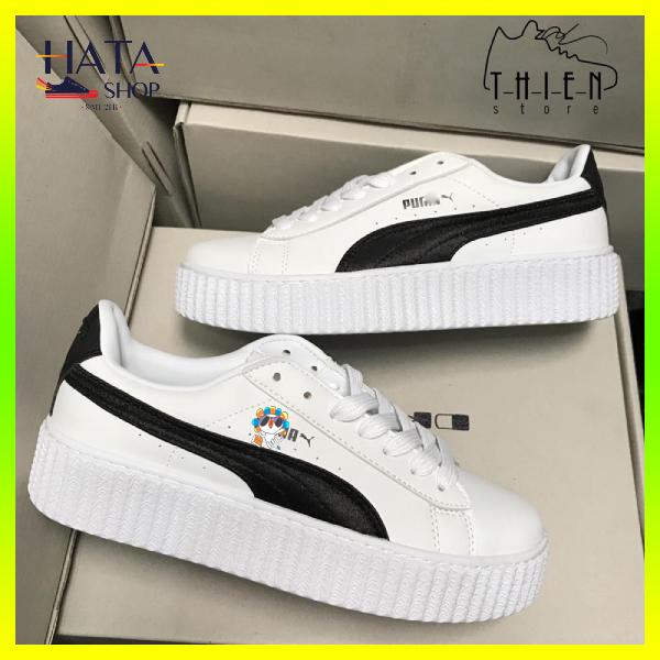 (Tặng hộp - Tất ) Giày thể thao sneaker nam nữ màu đen trắng chất liệu Da Cao Cấp siêu bền, chống nước Hot Trend 2020, giày pumaa nam nữ mang cực đẹp, cực êm chân, giày đôi nam nữ đẹp