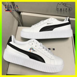 (Tặng hộp - Tất ) Giày thể thao sneaker nam nữ màu đen trắng chất liệu Da Cao Cấp siêu bền, chống nước Hot Trend 2021, giày pumaa nam nữ mang cực đẹp, cực êm chân, giày đôi nam nữ đẹp thumbnail