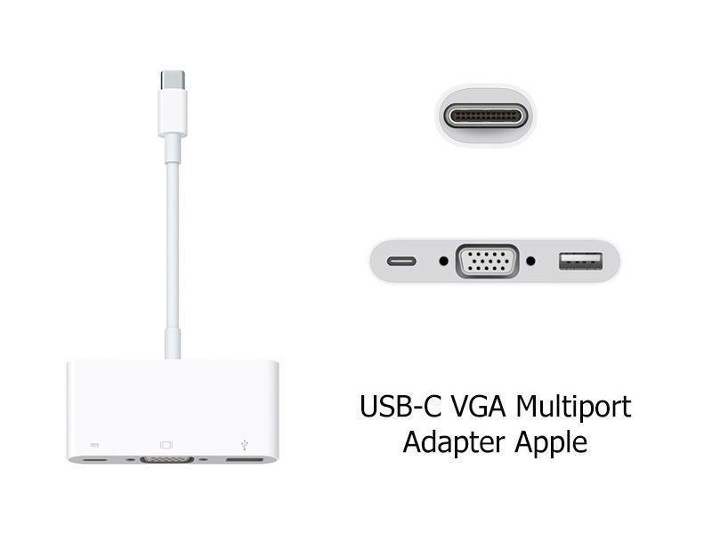 Cáp chuyển đổi Apple USB-C to VGA cho laptop và Macbook