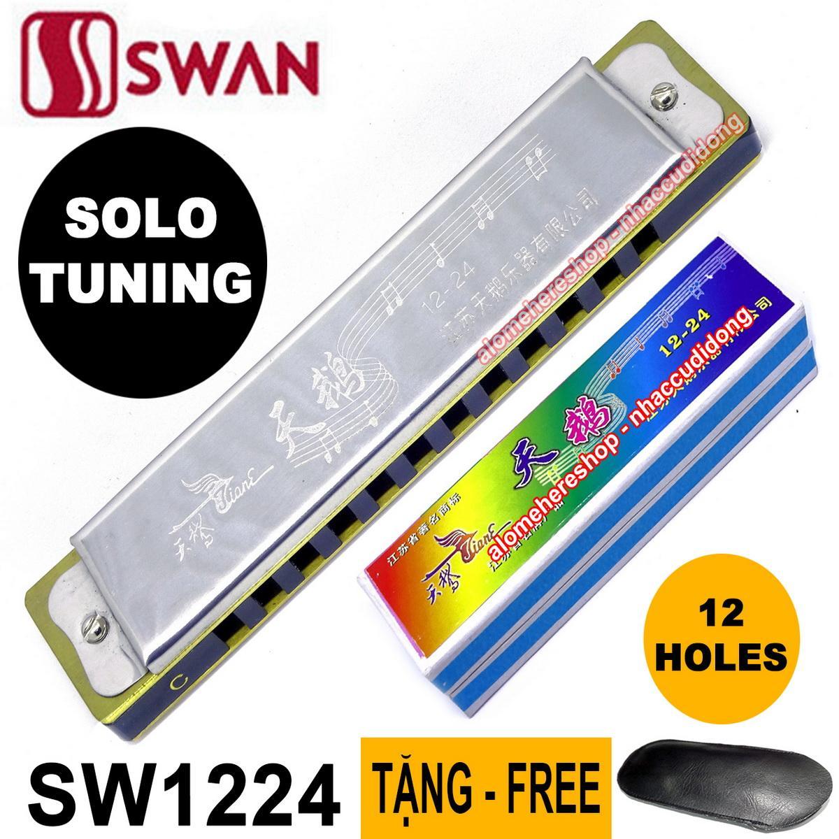Kèn harmonica Swan 12 lỗ SW1224 Solo Tuning key C