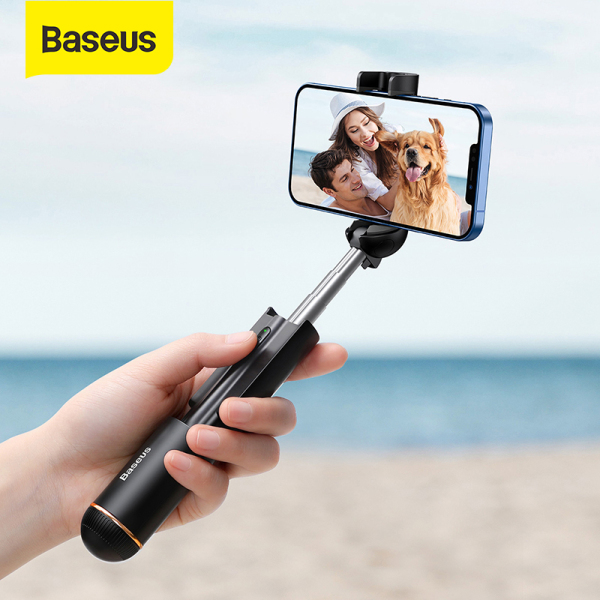 Baseus Mini Bluetooth Selfie Stick Foldable Wireless Self Stick Portable Handheld Selfiestick Extendable Monopod For iPhone 12 11 Pro Xiaomi Samsung