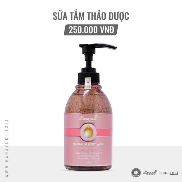 [Chính hãng Hanayuki-Date 2023]Sữa tắm Hanayuki dưỡng da dịu nhẹ-HANAYUKI BODY WASH giá rẻ