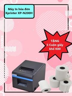 Máy In hóa đơn Xprinter XP-N200H + 5 Cuộn giấy khổ K80 thumbnail