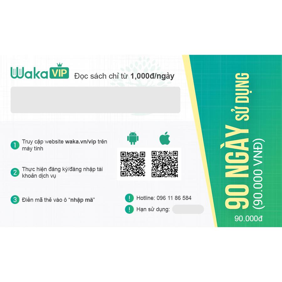 Thẻ đọc sách Ebook Waka vip 90 ngày sử dụng, thẻ đọc giúp bạn dễ dàng tiếp cận với kho tàng kiến thức khổng lồ 1 cách tiết kiệm nhất