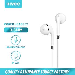 KIVEE Tai nghe nhét taiTai nghe có dây đa năng kèm mic với âm thanh nổi hifi Tai nghe có micđầu cắm 3.5mm tương thích với Xiaomi Samsung Huawei OPPO(MT05) thumbnail