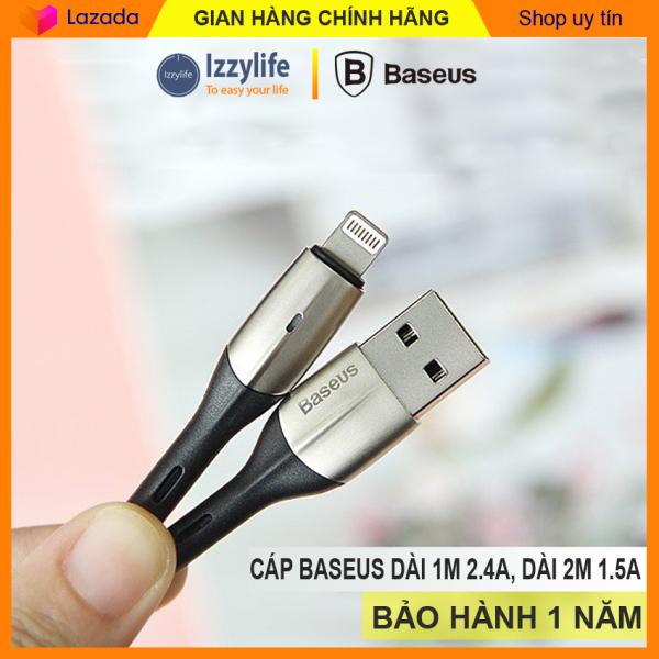 Cáp sạc Iphone chính hãng Baseus Horizontal sạc nhanh Iphone 2,4A dây sạc lightning cho Iphone 6 6s 7 7s 8 8s X Xs max Ipad