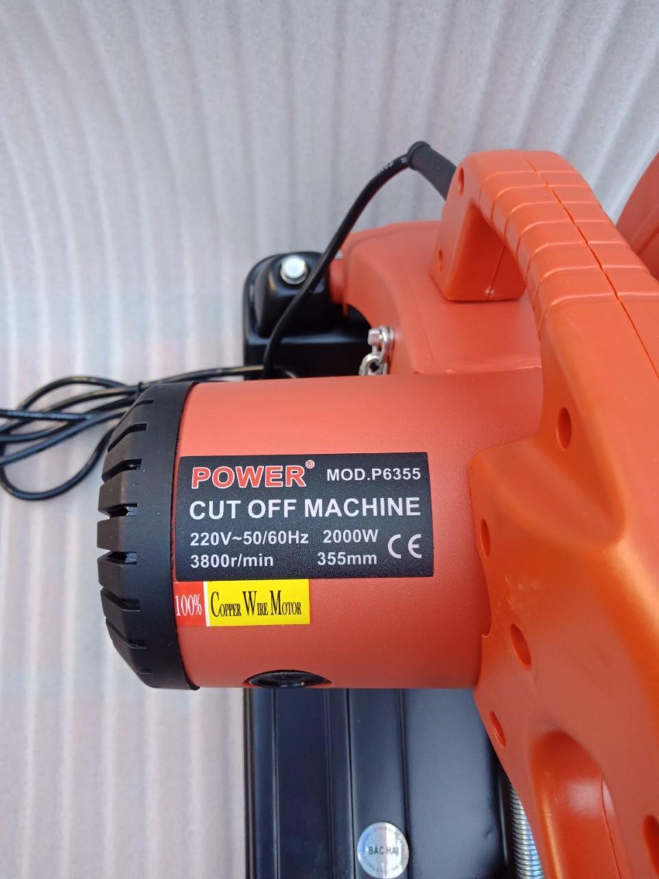 Máy cắt sắt bàn Power 2000w P6355 may cat sat ban