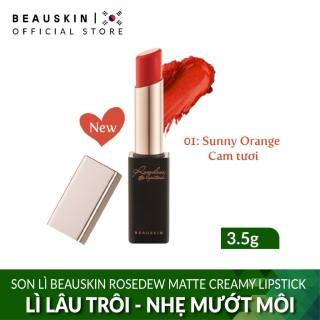 Son lì màu cam tươi Beauskin Rosedew Matte Creamy Lipstick 01 sản phẩm tốt chất lượng cao và cam kết hàng đúng như hình ảnh thumbnail