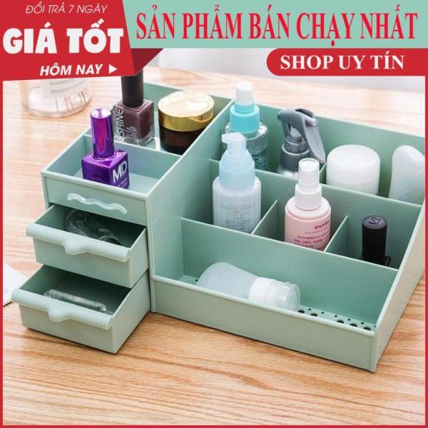 [ MẪU MỚI 2020] Tủ đựng mỹ phẩm, kệ đựng mỹ phẩm 3 tầng, 2 ngăn kéo, tủ đựng mỹ phẩm - Chất liệu nhựa PVC ( Giao màu ngẫu nhiên)