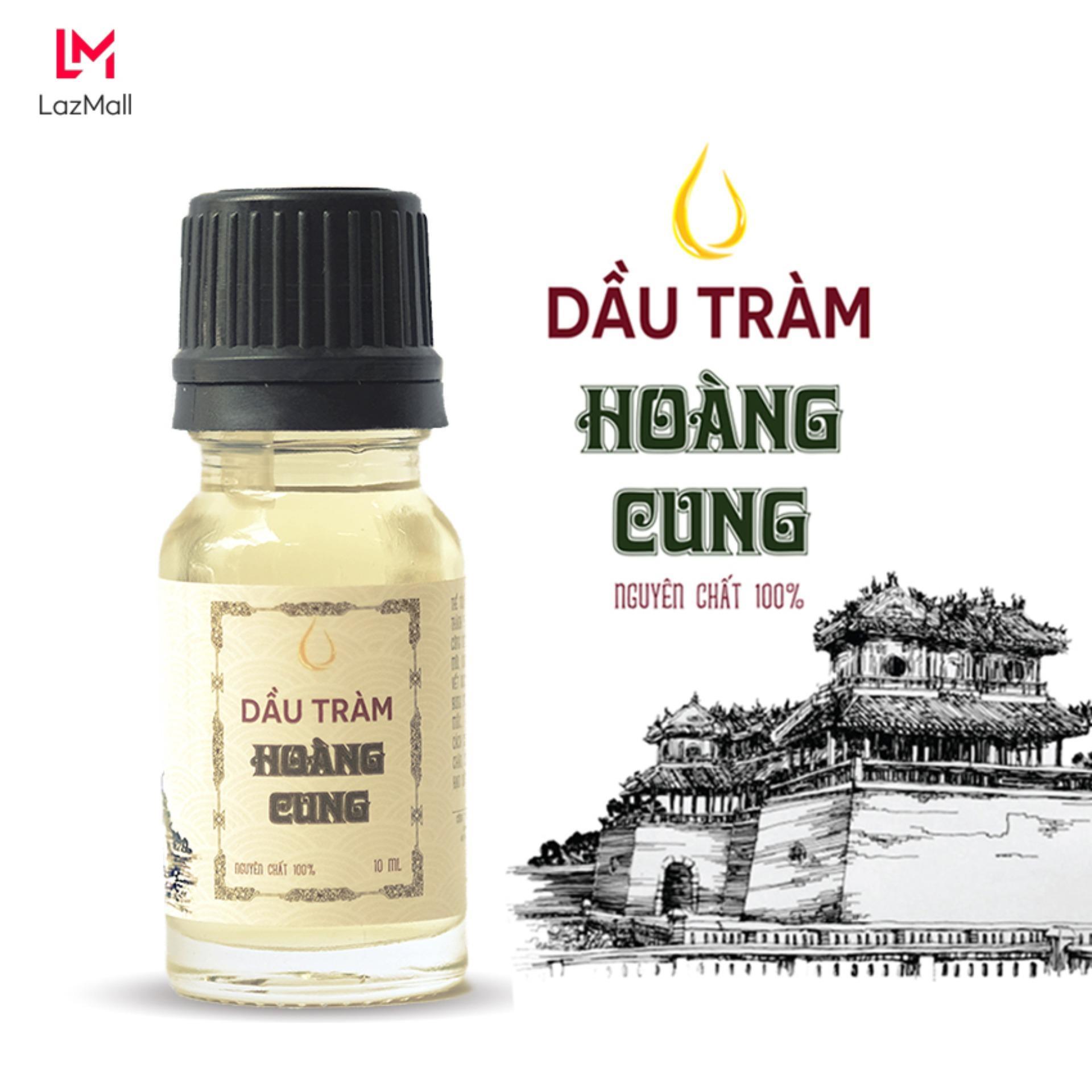 Dầu tràm Huế nguyên chất Hoàng Cung 10ml (chai thủy tinh)