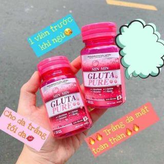 Viên trắng da Min Min Gluta Pure Hàng Thái thumbnail