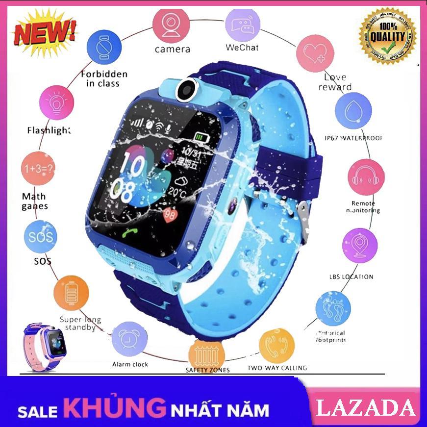 [TIẾNG VIỆT] Đồng hồ định vị trẻ em GPS A28 Chống nước IP67, có Camera chụp ảnh từ xa, đồng hồ thông minh trẻ em chống nước bảo hành 1 đổi 1