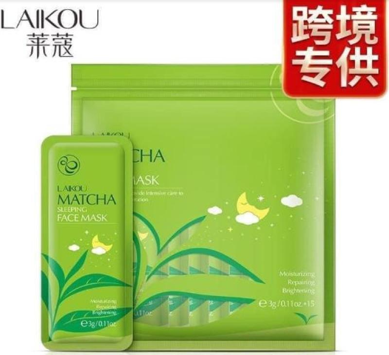 [ Siêu Rẻ] Bịch 15 Gói Mặt Nạ Ngủ Trà Xanh Matcha Mud Mask Laikou giá rẻ