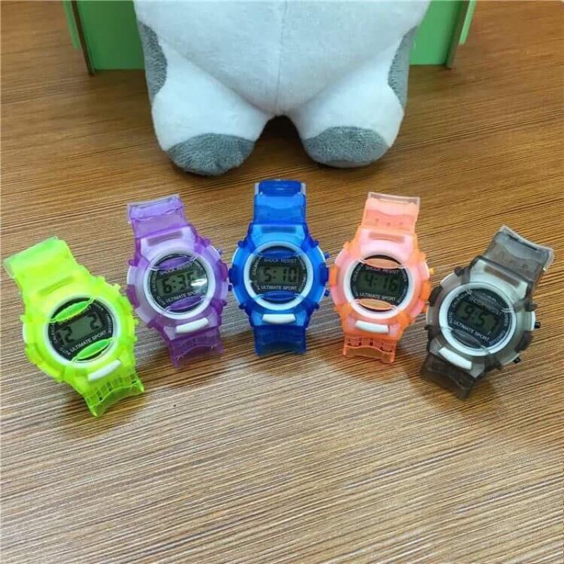 Nơi bán (Tặng hộp đựng đồng hồ) Đồng hồ thời trang trẻ em led SHOCK RESIST MS032