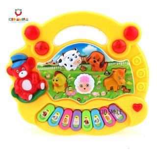 Đồ chơi trẻ em ĐÀN PIANO các hình động vật nuôi ngộ nghĩnh phát triển trí thông minh và kích thích thích giác cho bé từ 0 đến 3 tuổi thumbnail