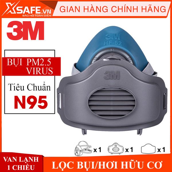 Mặt nạ phòng độc 3M HF52 bộ 3 linh kiện mặt nạ nửa mặt phòng dịch, kháng khuẩn lọc bụi mịn, khói hàn Chính hãng 3M [XSAFE] [XTOOLs]