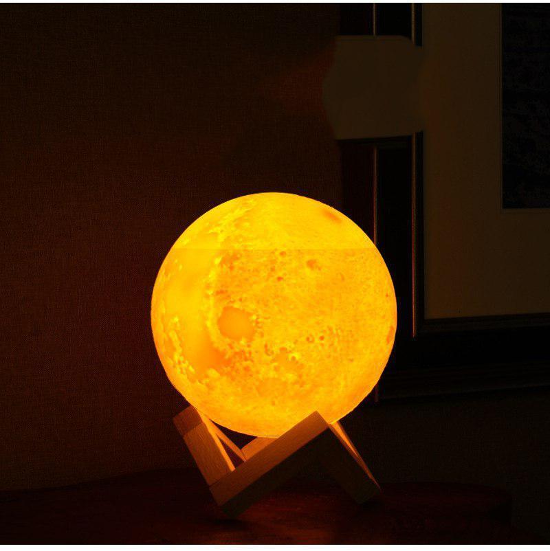 Máy xông tinh dầu mặt trăng , máy phun sương tinh dầu phát sáng ánh mặt trăng [ TẶNG GIÁ ĐỠ + 1 lọ tinh dầu)