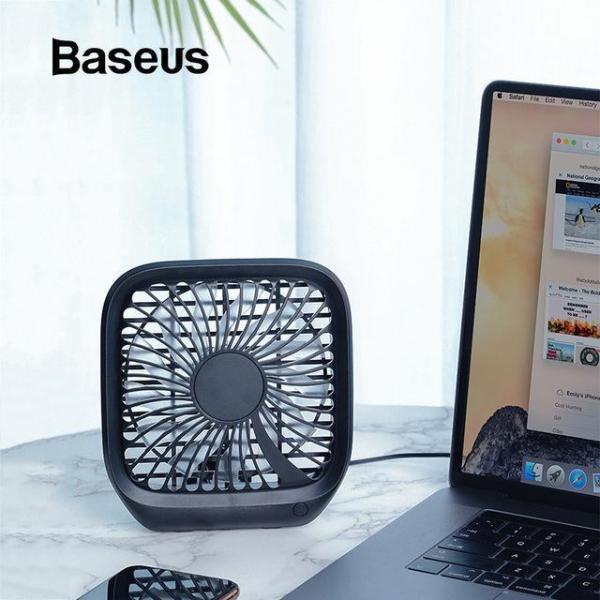 Quạt mini để bàn hoặc gắn ghế sau ô tô Baseus với 3-Tốc Độ làm mát sử dụng nguồn USB dùng cho nhân viên Văn Phòng hoặc trên xe hơi