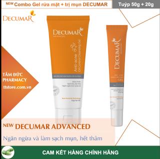 [NEW] Combo sạch mụn DECUMAR ADVANCED [Gel rửa mặt kiềm nhờn, gel bôi mụn] (Decuma, advance) thumbnail