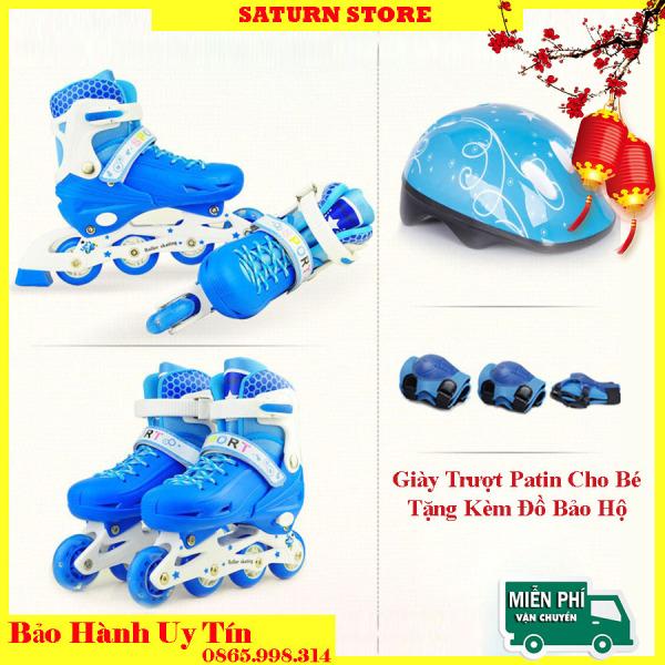 Mua [HCM]Giày Trượt Patin Giày Patin Trẻ Em Mua Giày Trượt Patin Giày Patin Trẻ Em Có Đèn Tặng Mũ Và Đồ Bảo Hộ (5 đến 14 tuổi) Thiết Kế Chắc Chắn Ôm Chân Nhưng Vẫn Mang Lại Cảm Giác Thoải Mái - Bảo Hành Uy Tín Lỗi 1 Đổi 1