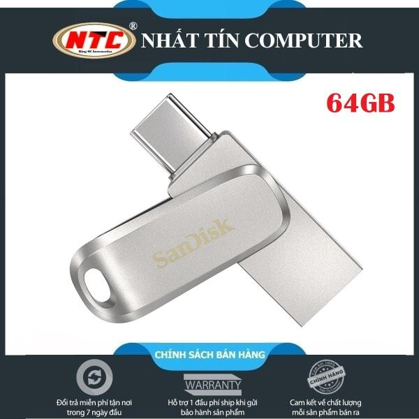 Bảng giá USB OTG Sandisk Ultra Dual Drive Luxe USB Type-C 3.1 64GB 150MB/s (Bạc) - Vỏ kim loại cao cấp - Nhất Tín Computer Phong Vũ