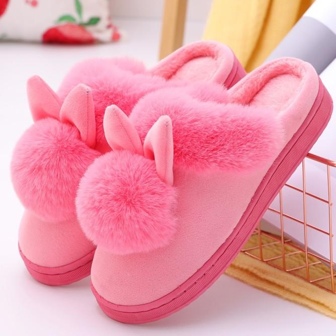 Dép đi trong nhà chất liệu bông hình thỏ đáng yêu mềm mại ấm áp KIO giá rẻ