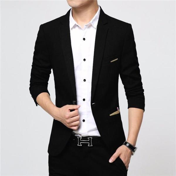 Áo Khoác Vest Nam Hàn Quốc Màu Đen Thời Trang TC-Fashion - TC61414