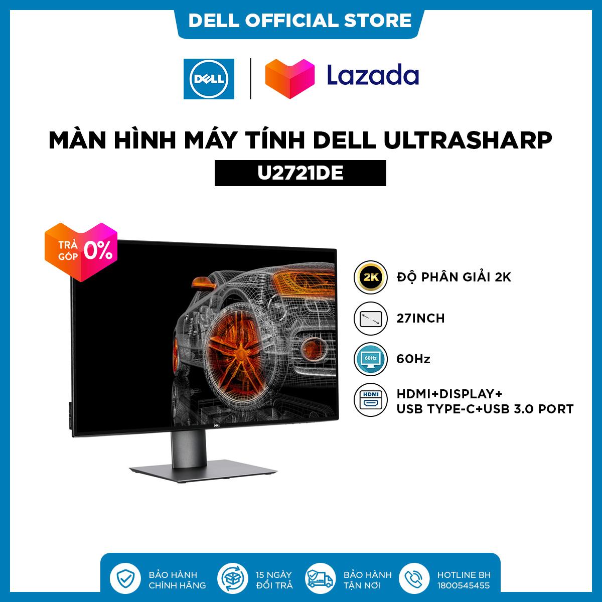 TRẢ GÓP 0%|FREESHIP|Màn Hình Máy Tính Dell UltraSharp U2721DE 27inch 2K IPS 60hz 5ms Cổng RJ45 HDMI+Display+USB Type-C+USB 3.0 Port