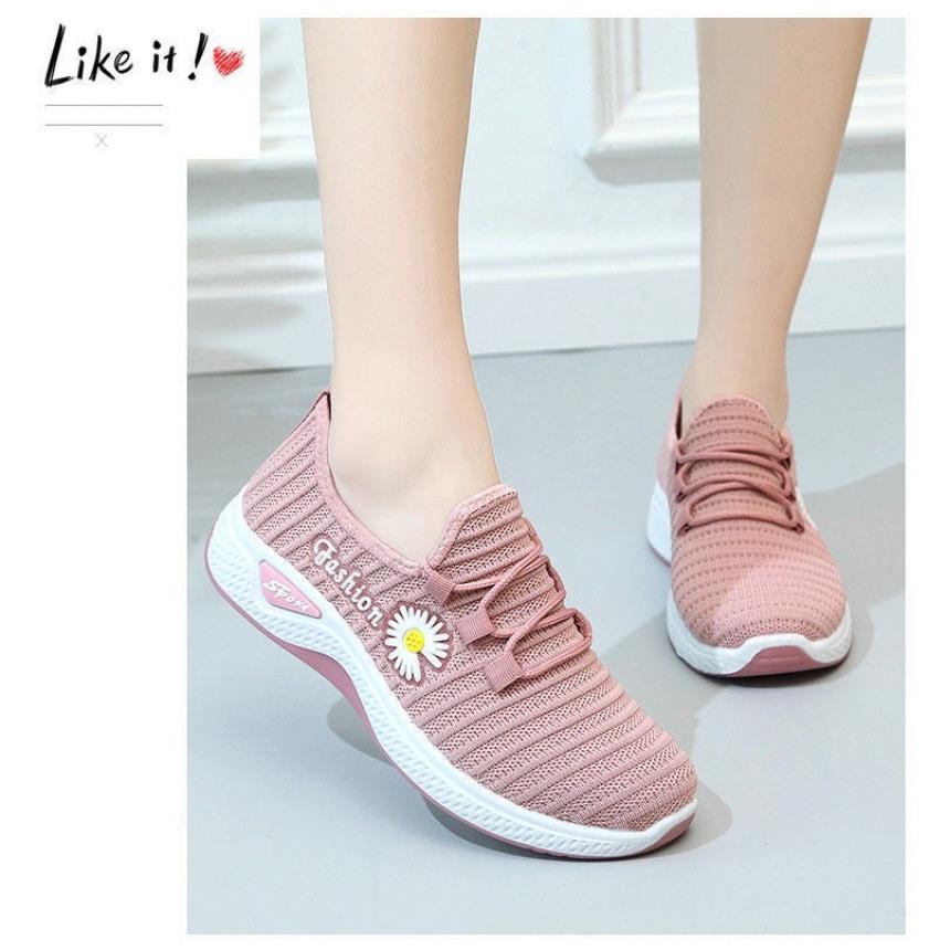 (Có 2 Màu) Giày vải nữ thoáng khí Fashion hoa cúc - MinhNhat giá rẻ