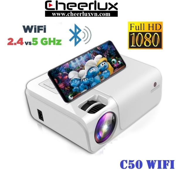 [Trả góp 0%]Máy chiếu cheerlux C50 Full HD 1080P độ sáng 3800 lumen kết nối không dây với điện thoại loa bluetooth. Bảo hành 12 tháng