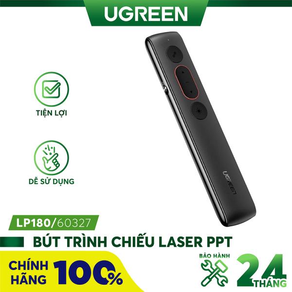 Bút trình chiếu Laser PPT không dây điều khiển từ xa 100m (sử dụng pin AAA) UGREEN LP180 60327