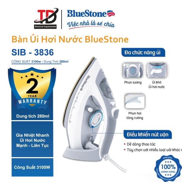 Bàn Ủi Hơi Nước BlueStone SIB-3836 (3100W) - Hàng chính hãng Bảo Hành 2 Năm