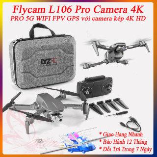 Drone Camera 4k - Flycam L106 Pro Camera 4K - Flycam chính hãng - Flycam 4k Giá rẻ - Máy bay flycam 4k giá rẻ - Flaicam - Plycam Có Camera 4k - Playcam Mini - May bay 4 canh co camera - Phờ lai cam - Drone thumbnail