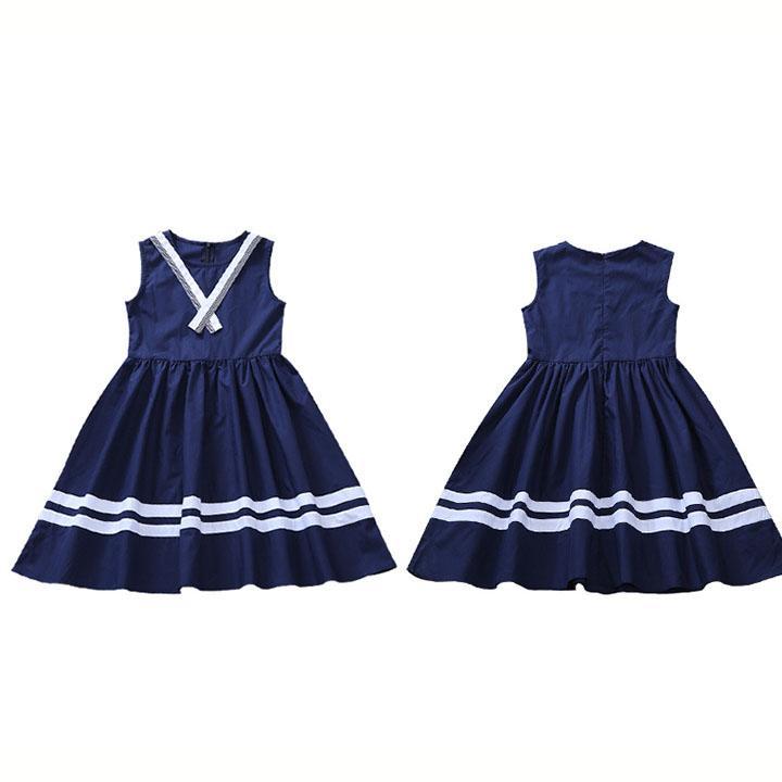 Giá bán Đầm xòe cotton nữ tính họa tiết nơ chéo sang trọng cho bé yêu 5-14 tuổi BBShine – D050