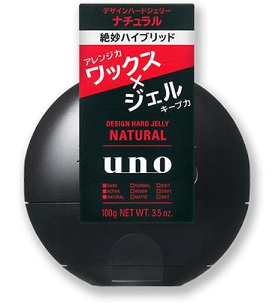 Gel vuốt tạo kiểu tóc Shiseido UNO Design Hard Jelly Natural 100g (Made in Japan) giá rẻ