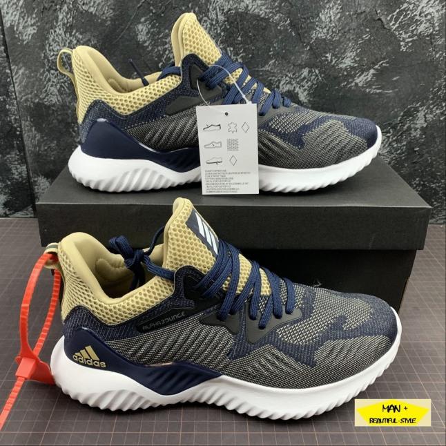(HÀNG MỚI VỀ + QUÀ TẶNG) Sneaker Alphabounce Beyond 2018 gót vàng thời trang siêu nhẹ giày thể thao giá rẻ
