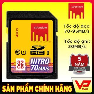 Thẻ nhớ máy ảnh 32GB tốc độ cao 70MB s Strontium Nitro UHS-1 thumbnail